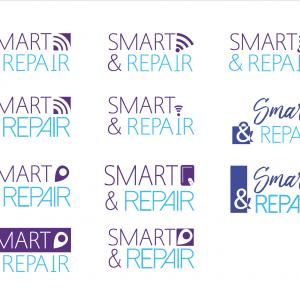 Création et propositions de logos pour une entreprise de réparation de téléphones, tablettes tactiles...