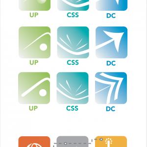 Série de logos réalisés pour 3 unités de travail internes à la SNCF