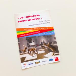 """Proposition d'affiche pour une exposition événement """"L'art contemporain raconté aux enfants""""."""