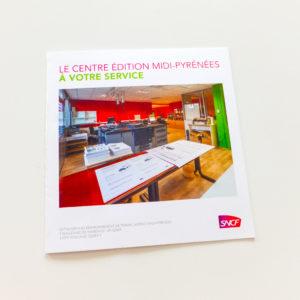 Plaquette de présentation du centre d'édition de Toulouse.
